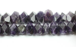 Amethyst Faceted Central-Drilled Nuggets Gemstone Beads (SL72716)