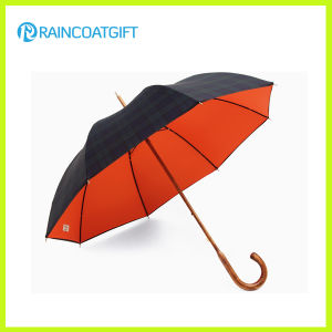 Promotion Wood Shaft Golf Umbrella (Social Audit and BSCI factory) pictures & photos