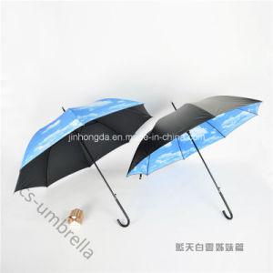 "22""X8k Heat Transfer Printing Fabric Straight Sun Umbrella (YSS0146-1) pictures & photos"