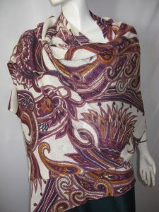 100% Cashmere Knitted Print Shawl pictures & photos