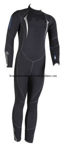 Men′s Neoprene Diving Suit with Nylon Fabric (HXSW079) pictures & photos