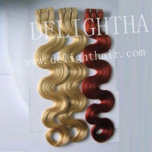 """18"""" High Quality European Hair Wholesale Tape Hair Extension Nhwe001"""