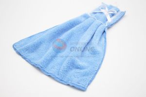 Baby Blue High Quality Cleaning Towel with Bowknot pictures & photos