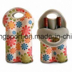 2016new Style Customized Neoprene Bottle Holder for Double Bottle, Neoprene Wine Bottle Cooler pictures & photos