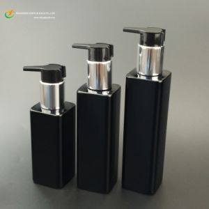High Class Black Square Bottle, Black Cosmetic Bottle, Square Lotion Bottle for Skin Care Container