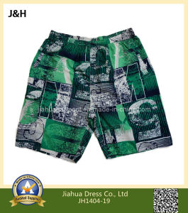 Mens Printed Beach Wear Cargo Shorts with Inseam Lace