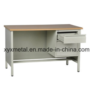 Industrial Steel Furniture Prices Wooden Top Metal Body Cheap Modern Office Desk pictures & photos