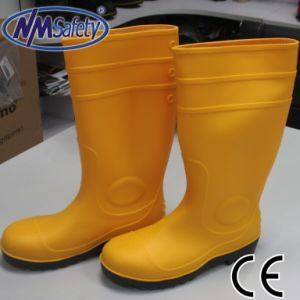 China Nmsafety Yellow Mining Steel to Cap PVC Gum Boots Rain Boots ...