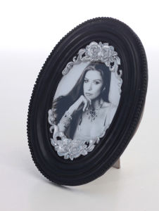 Resin Oval Photo Frame for Home Decoration or Hotel Decoration