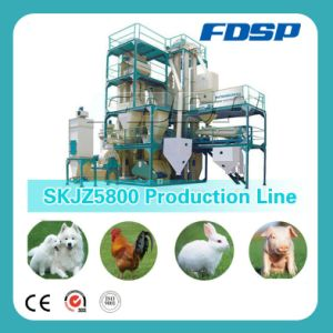 Farm Used Small Yield Animal Feed Pellet Production Line pictures & photos