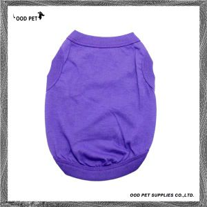 Cotton Basic Dog Shirts Logo Printed Dog Clothes Spt6003-2 pictures & photos