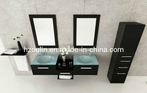 Glass Sink Bathroom Vanity (BA-1118) pictures & photos
