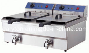 Double Tanks Industrial Fryer for Frying Food (GRT-E132V) pictures & photos