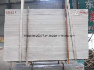 Grey Marble Slab, Wood Vein, White Wooden Vein Slab, Tiles pictures & photos