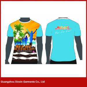 Custom Made Sublimation Printing Polyester T Shirts (R135) pictures & photos