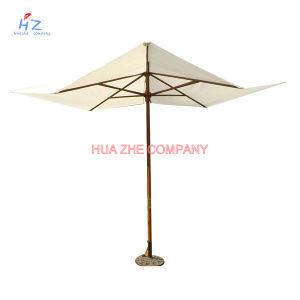 Hz-Um107 Wood Umbrella Wood Paraslo Outdoor Umbrella Beach Umbrella Garden Umbrella pictures & photos