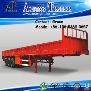 3 Axles Cargo Trailer, Side Board Semitrailer, Side Boards Flatbed Semi Trailer, Flatbed with Side Wall, Open Side Board Cargo Semi Trailer, Side Wall Trailer pictures & photos