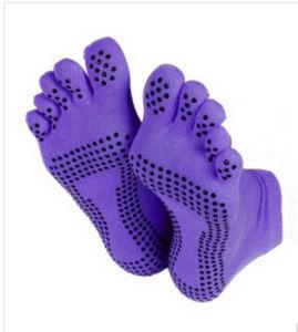 Cotton Anti Slip Indoor Yoga Socks pictures & photos