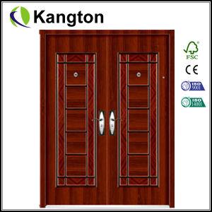 Exterior Commercial Double Steel Door (security door) pictures & photos