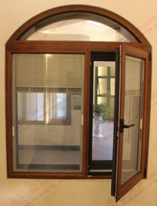 Champagne Aluminium/ Aluminum Arched Side-Hung Window (BHA-CWA24) pictures & photos
