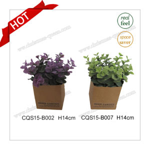 H14cm Wholesale Real Feel Silk Flowers Artificial Plant Flower pictures & photos