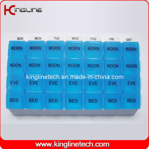 Plastic Pill Box with 28-Cases (KL-9057) pictures & photos