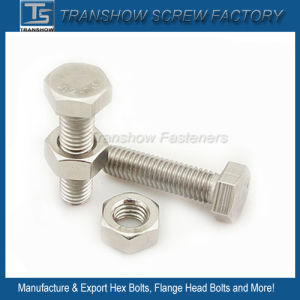 DIN933 Standard Stainless Steel Hex Bolt pictures & photos