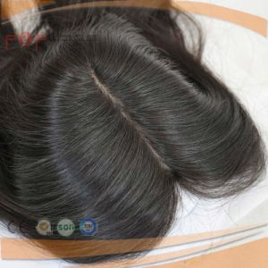 All Hand Tied Skin Top Top Human Hair Lace Closure Toupee Piece pictures & photos