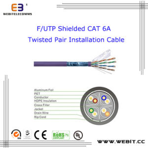 F/UTP Shielded Cat 6A Twisted Pair Installation Cable, CAT6A F/UTP Data Cable /LAN Cable /Network Cable pictures & photos