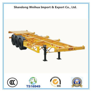 3 Axles Skeleton Container Trailer of Semi-Trailer From China pictures & photos