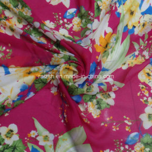 Chiffon Scarf Dress Fabrics with Flower Printings pictures & photos