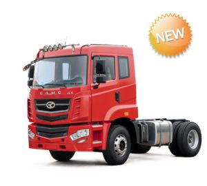 New Camc Brand Tractor Truck 4*2 Red 6wheels 2 Axles Flat Proof