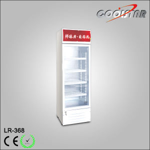 368L Glass Door Vertical Cooler with Top Light Box (LR-368) pictures & photos