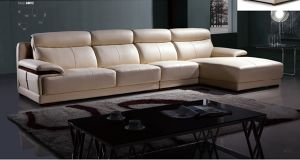 Lizz Top Grain Living Room Leather Sofa with Corner A8012 pictures & photos