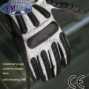Nmsafety Cut Resistant Protection Anti Impact Mechanic Glove pictures & photos