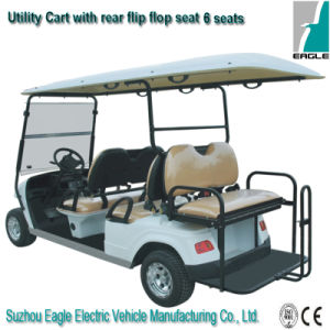 Electric Golf Car with The Rear Flip-Flop Seat pictures & photos