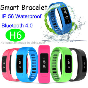 Bluetooth 4.0 Smart Bracelet with IP56 Waterproof (H6) pictures & photos