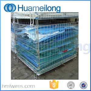 Collapsible Storage Galvanized Wire Mesh Container for Warehouse pictures & photos