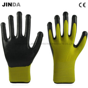 Nitrile Coated Zebra-Stripe Construction Safety Work Gloves (U203) pictures & photos