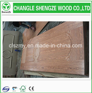 Cheap Price Ash/Teak/Sapeli/Oak HDF/MDF Moulded Veneer Door Skin pictures & photos