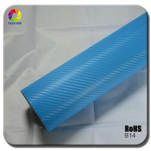 Tsautop 3D Carbon Fiber Vinyl for Car Wrapping& Blue B14 pictures & photos