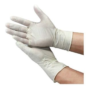 Medical Latex Examination Gloves Powdered pictures & photos