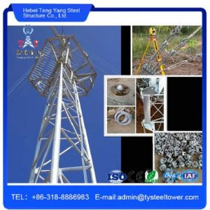 Galvanized Guy Mast Tower Telecom Guyed Tower Made in China pictures & photos