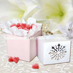 Laser Cut Favor Box From Red Leaves