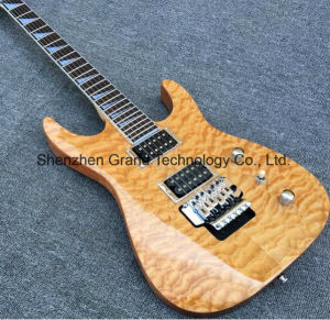 Electric Guitar with Quilted Maple Top in Natural Color (SH-01) pictures & photos