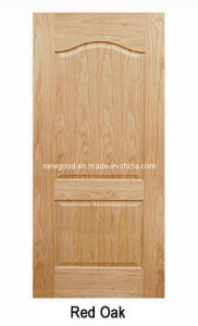 (Red Oak) Veneered HDF Moulded Doors, Composite HDF Doors pictures & photos
