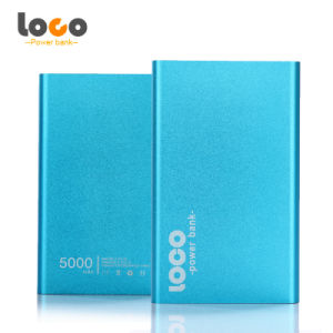 Slim Aluminium Alloy Portable 5000mAh Power Bank for Mobile