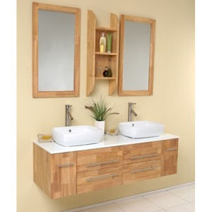 New Melamine Surface Bathroom Vanity with Good Quality pictures & photos
