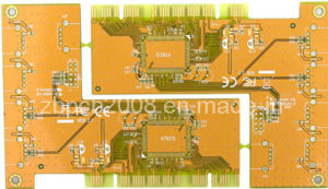 Gold Finger 4layers Yellow Mask PCB Board pictures & photos