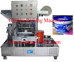 Plastic Pail Roll Film Sealing Machine pictures & photos